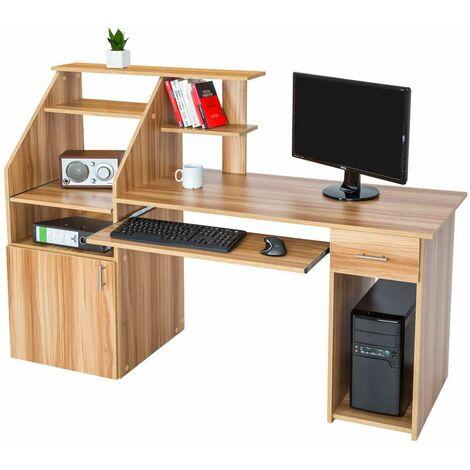 Computer desk 164.5cm - desk, office desk, PC desk - beech