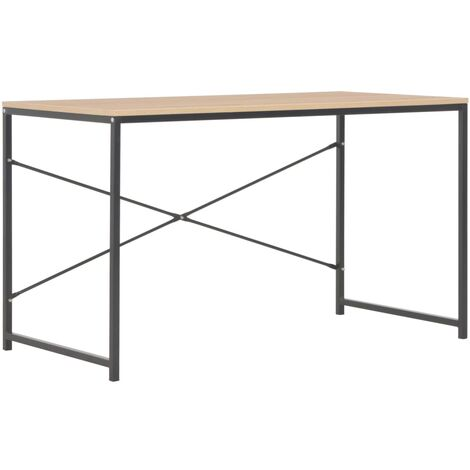 Computer Desk Black and Oak 120x60x70 cm
