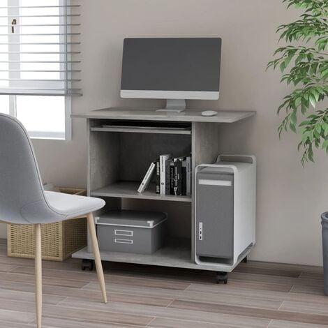 Computer Desk Concrete Grey 80x50x75 cm Chipboard - Grey