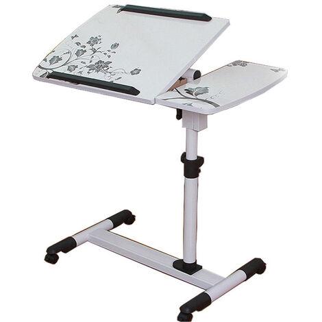 Computer Desk Folding Adjustable Removable Laptop Table White