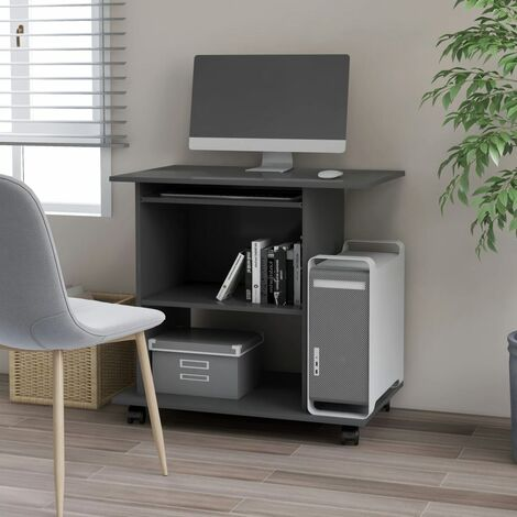 Computer Desk Grey 80x50x75 cm Chipboard