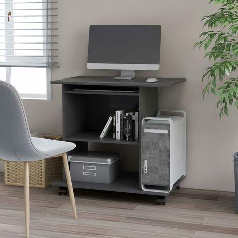 Computer Desk Grey 80x50x75 cm Chipboard - Grey