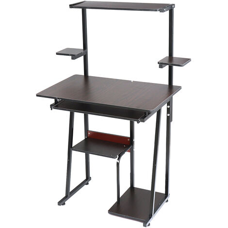 Computer Desk Laptop Table Writing Study Workstation 126x37x57CM Brown