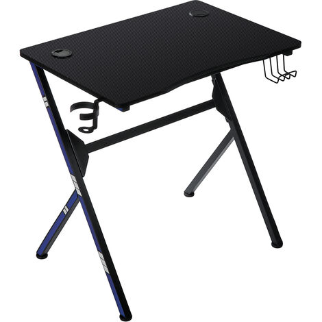 Computer Desk PC Laptop Gaming Table w/ Cup Holder 75*50*75cm
