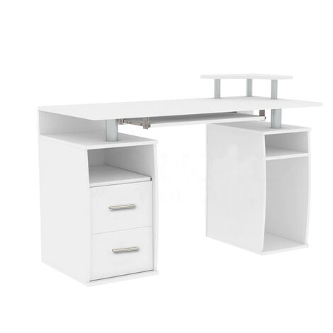Computer Desk PC Table With Shelves Drawers Workstation 120*55*74CM