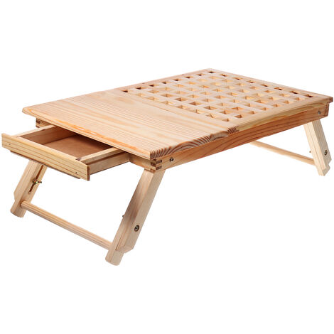 Computer Desk Portable Wooden Lapdesk Table Bed Tray Adjustable Breakfast Table Foldable Tilt Tray Hasaki