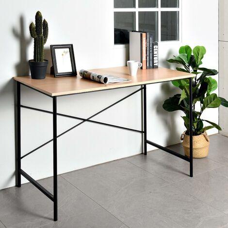 Computer Desk Scandinavian Industrial Laptop Workstation MDF Metal structure 120CM*60CM