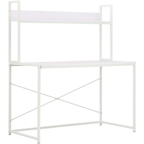 Computer Desk White 120x60x138 cm