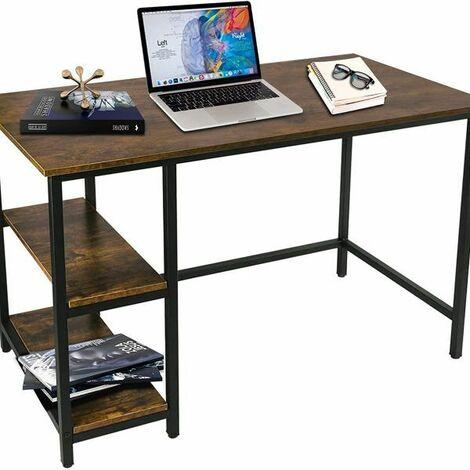 Computer Desk with Bookshelves - Maple