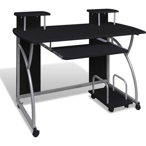 Computer Desk with Pull-out Keyboard Tray Black