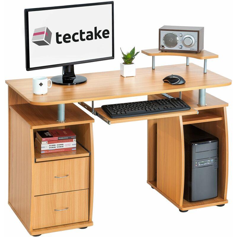 Tectake - Computertisch 115x55x87cm - Bürotisch, Eckschreibtisch, Schreibtisch - buche - haya