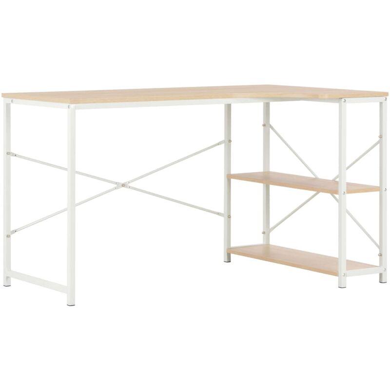 Computertisch 120×72×70cm Weiß Eiche - VIDAXL