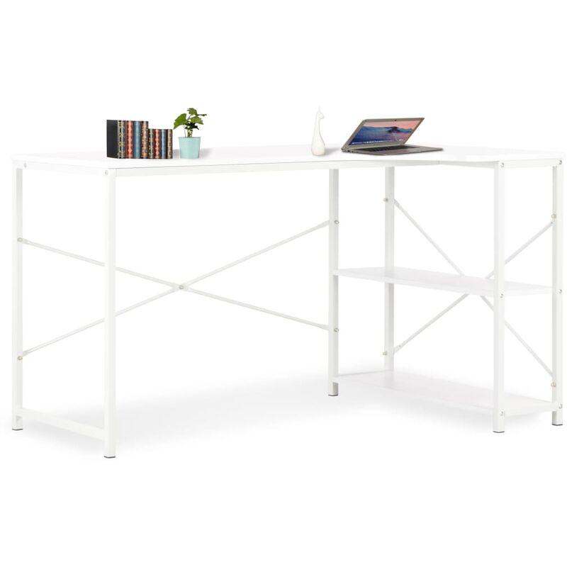 Zqyrlar - Computertisch Weiß 120×72×70 cm