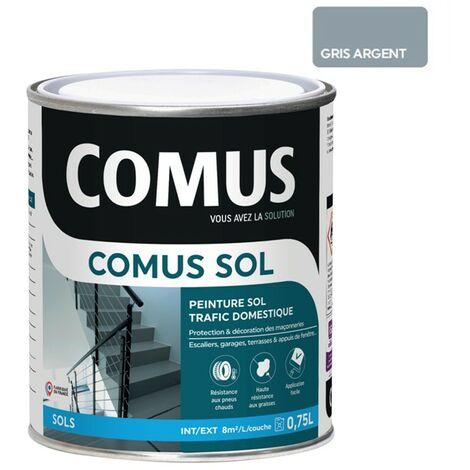 COMUS SOL GRIS ARGENT 0,75LPeinture pour sols intérieurs et extérieurs, trafic domestique