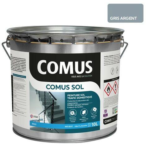 COMUS SOL GRIS ARGENT 10LPeinture pour sols intérieurs et extérieurs, trafic domestique