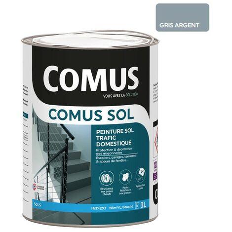 COMUS SOL GRIS ARGENT 3LPeinture pour sols intérieurs et extérieurs, trafic domestique