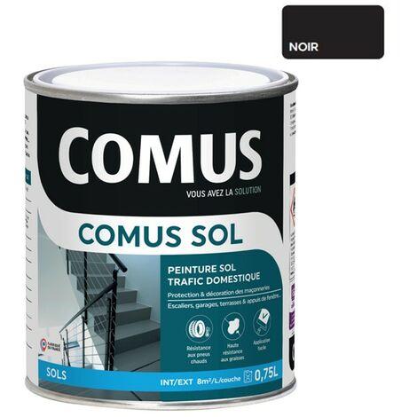 COMUS SOL GRIS CIMENT 0,75L Peinture de protection et décoration pour sols intérieurs et extérieurs, trafic domestique - COMUS