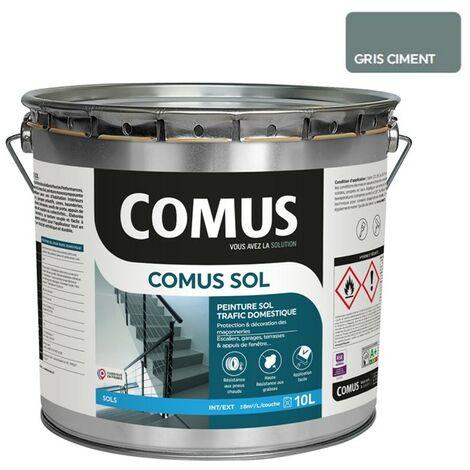 COMUS SOL GRIS CIMENT 10LPeinture pour sols intérieurs et extérieurs, trafic domestique