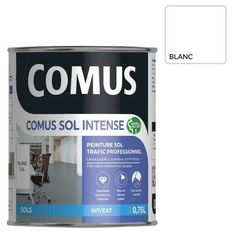 COMUS SOL INTENSE BLANC 0,75 L Peinture sols intérieurs et extérieurs, trafic intense/professionnel