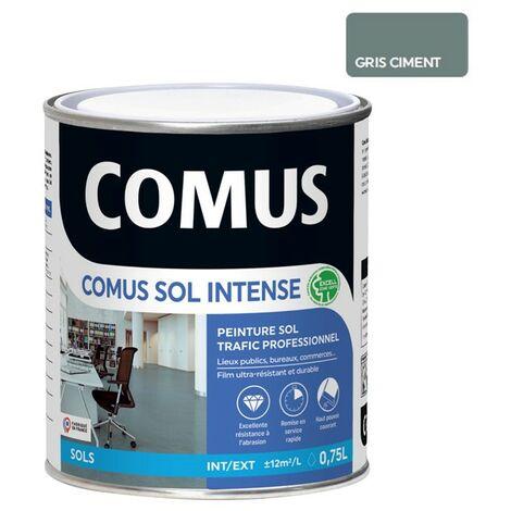 COMUS SOL INTENSE GRIS CIMENT 0,75L Peinture sols intérieurs et extérieurs, trafic intense/professionnel