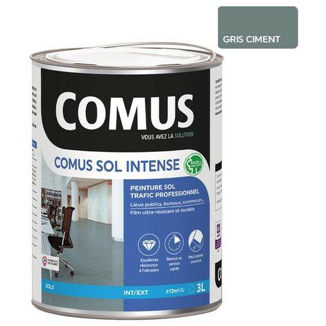 COMUS SOL INTENSE GRIS CIMENT 3L Peinture de protection et décoration pour sols intérieurs et extérieurs, trafic intense/professionnel - COMUS