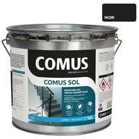 COMUS SOL NOIR 10L Peinture de protection et décoration pour sols intérieurs et extérieurs, trafic domestique - COMUS
