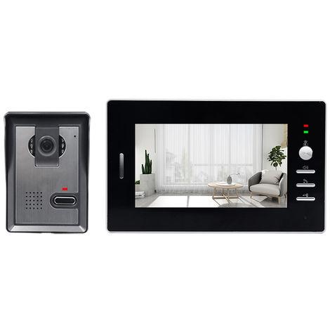 Con conexion de cable del sistema de intercomunicacion de video, de 7 pulgadas con conexion de cable timbre de la puerta monitor de interior