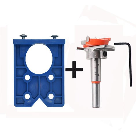 """main image of """"Concealed Hinge Jig Drill Guide Sets 35mm Hinge Boring Jig Hinge Hole Saw Jig Bit Positioner Hole Puncher Locator Opener for Cabinet Hinges and Mounting Plates"""""""