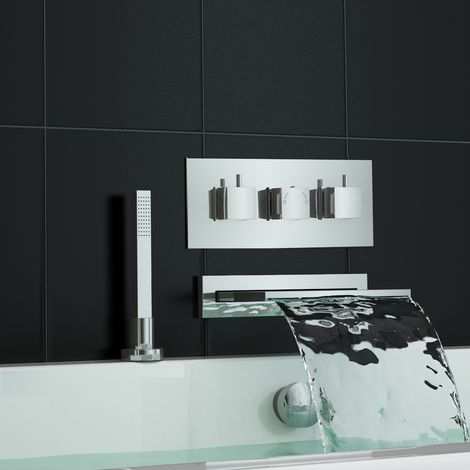 Concealed Thermostatic Shower Mixer Tap With Bath Filler + Handheld