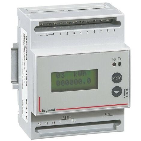 Concentrateur modulaire EMDX3 pour collecter les mesures de 12 compteurs à impulsions 4 modules avec sortie RS485 (412065)