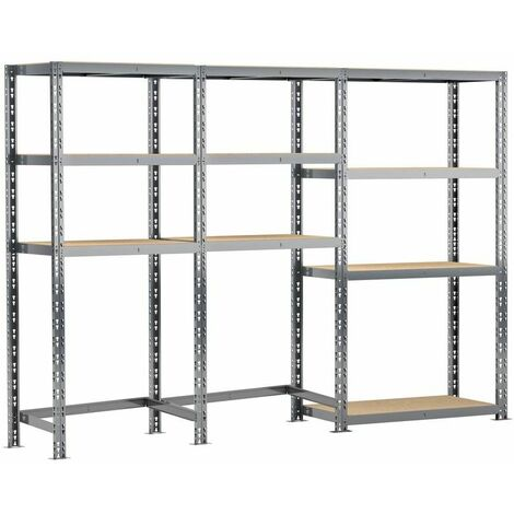 Concept rangement de garage - longueur 240 cm - 10 plateaux