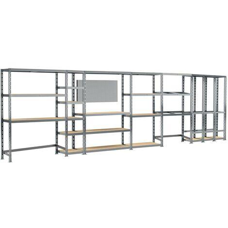 Concept rangement de garage MODULÖ - longueur 605 cm - 24 plateaux