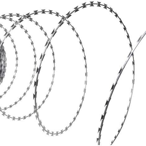 Concertina NATO Razor Wire Galvanised Steel 300 m