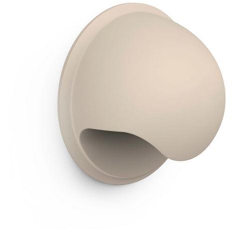 Concha de plástico con acabado crema, dimensiones: 40x40x22mm ø: 40mm - talla