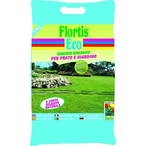 Concime Biologico Bio Prato e Giardino Flortis 5 kg Orvital