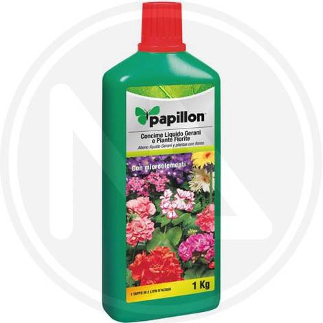 CONCIME LIQUIDO per GERANI E PIANTE FIORITE 1 kg PAPILLON