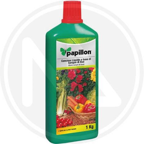 CONCIME LIQUIDO SANGUE DI BUE per piante da fiore e frutta 1 kg PAPILLON