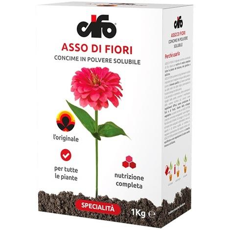 Concime Universale Asso di fiori NPK 20-20-20 da 1 kg.