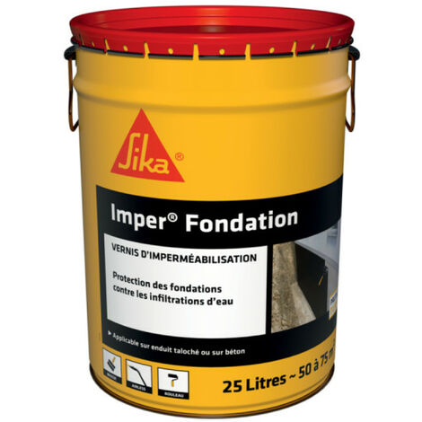 Concrete foundation waterproofing coating - SIKA Imper foundation - Black - 25L