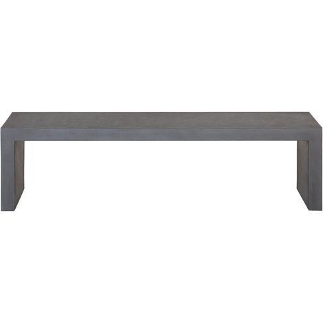 Raw Concrete Outdoor Bench Dark Grey TARANTO