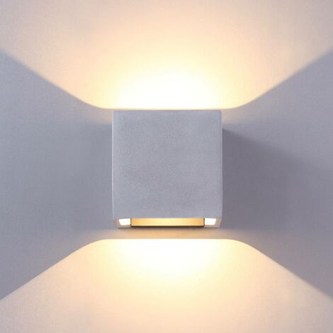 Concrete grey LED outdoor wall lamp Riak