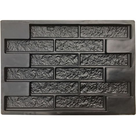 Concrete Molds Plaster Wall Stone Cement Tiles Brick DIY Garden Pavement