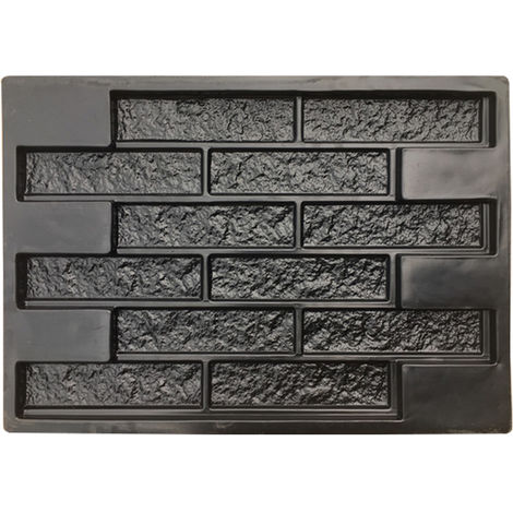 Concrete Molds Plaster Wall Stone Cement Tiles Brick DIY Garden Pavement Hasaki