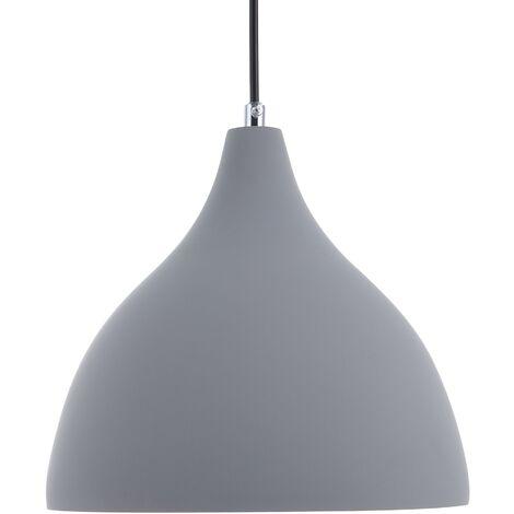 Concrete Pendant Lamp Grey LAMBRO