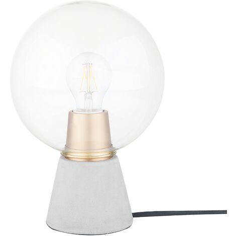 Concrete Table Lamp Grey ARVE