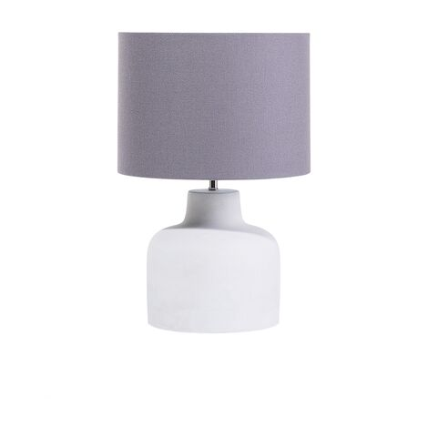 Concrete Table Lamp Grey BHIMA
