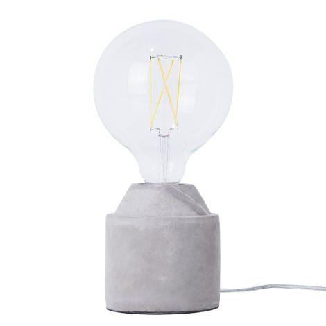 Concrete Table Lamp Grey SELLA