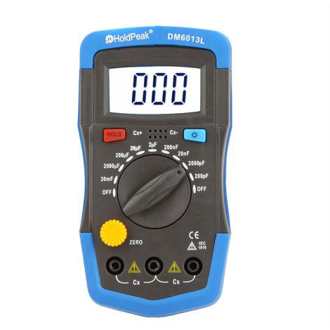 Condensador de medidor digital de capacitancia