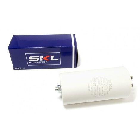 Condensador Trabajo Motor 150uF 450Vac 60x120mm Faston Y M8