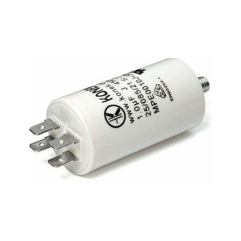 Condensador Trabajo Motor 1uF 450Vac 28x55mm FASTON Y M8